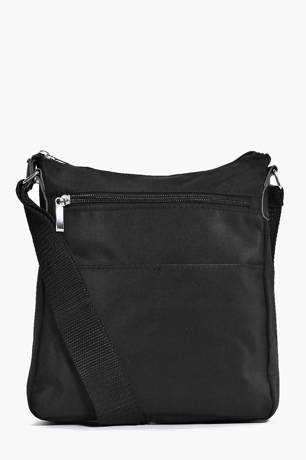 Cross Body Bag - black - Nylon Cross Body Bag - bl