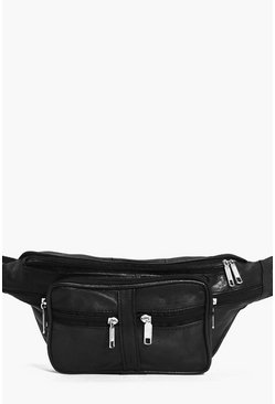Leather Multipocket Bum Bag