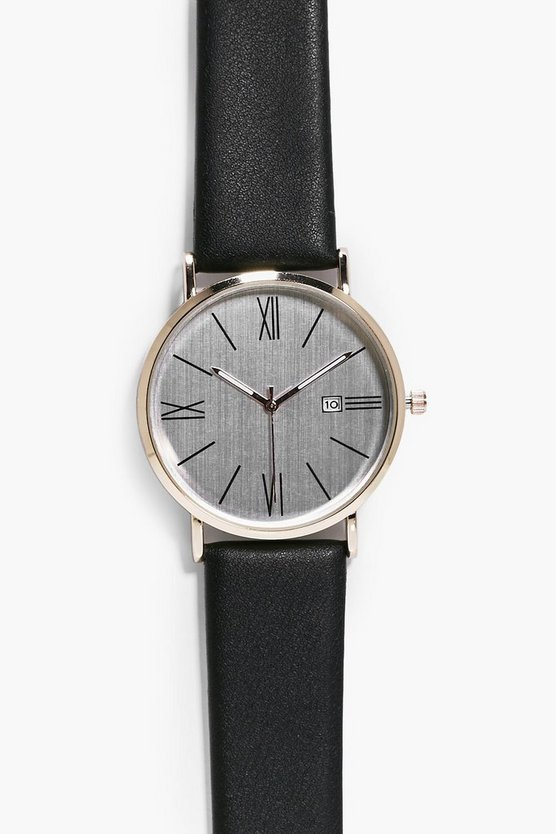 Classic Round Face Watch