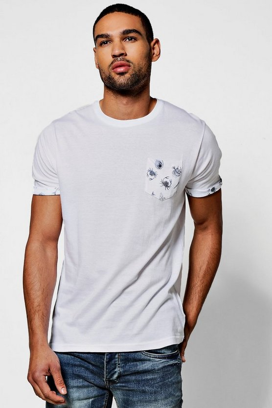 Pocket Print T shirt