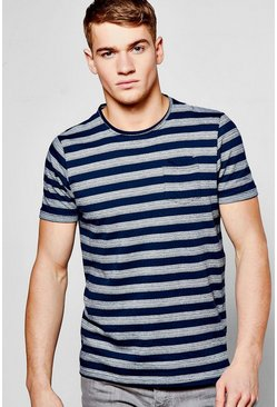 Stripe T Shirt In Yarn Dye