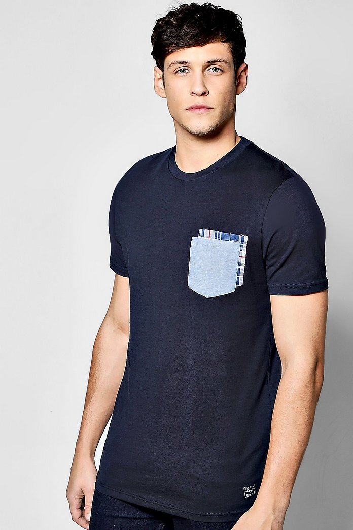 Chambray Double Pocket T Shirt