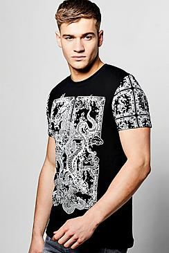 Dragon Print T Shirt