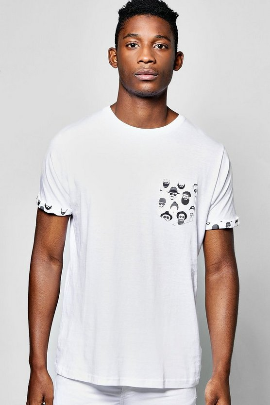 Micro Pocket Print T Shirt