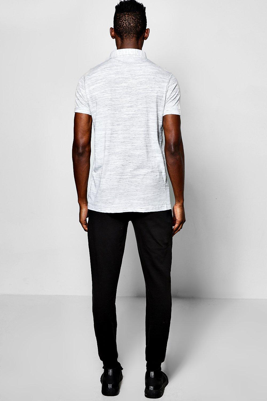 boohoo herren polo t shirt mit rei verschluss ebay. Black Bedroom Furniture Sets. Home Design Ideas