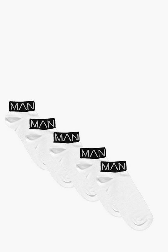 5 Pack MAN Branded Trainer Socks