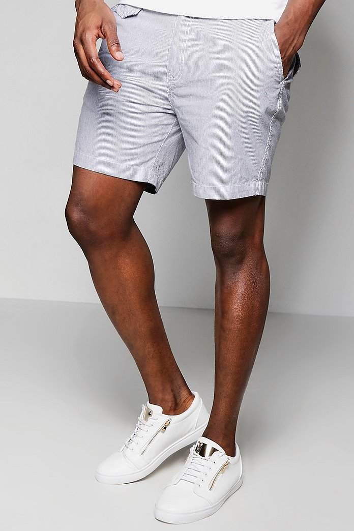 Cotton Twill Stripe Shorts