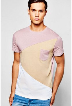 Spliced Colour Block T-Shirt