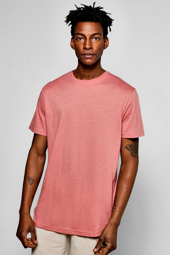 Oversized T-Shirt With Curve Hem