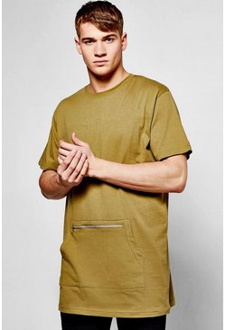 Oversized T-Shirt With Kangaroo Pocket