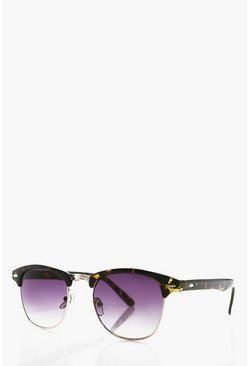Classic Tortoise Shell Clubmaster Sunglasses