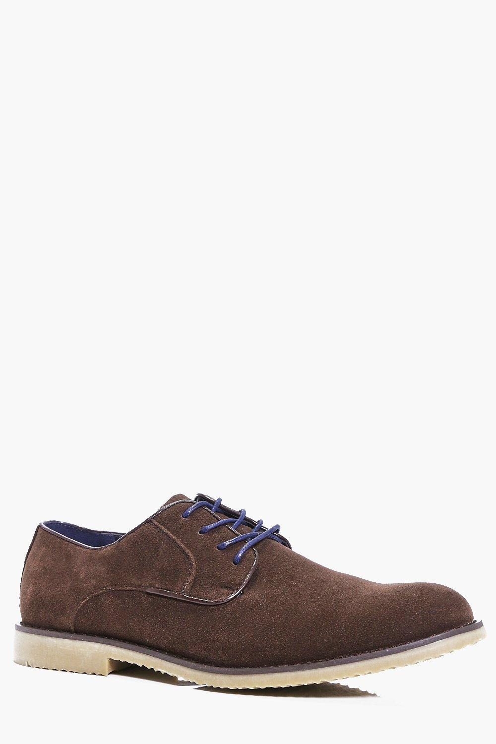Faux Suede Derby Shoes