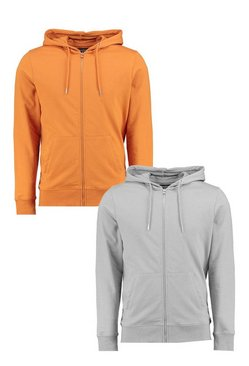 2 Pack Zip Through Hoodies