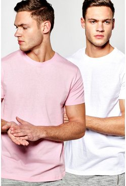 2 Pack Regular Crew Neck T Shirts