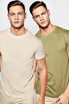 2 Pack Regular Fit Crew Neck T Shirts