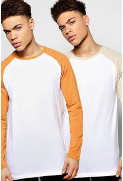 2 Pack Long Sleeve Raglan T Shirts