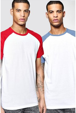 2 Pack Short Sleeve Raglan T Shirts