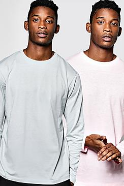 2 Pack Long Sleeve Crew T Shirts