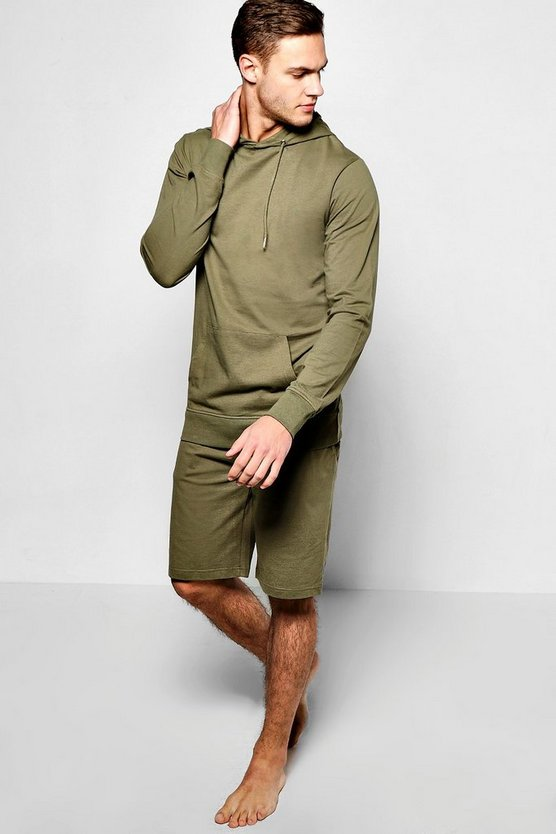 Lightweight Hooded Short Loungewear Set