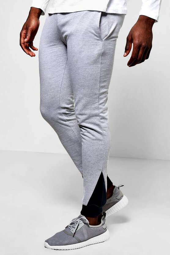 Contrast Panel Skinny Fit Joggers