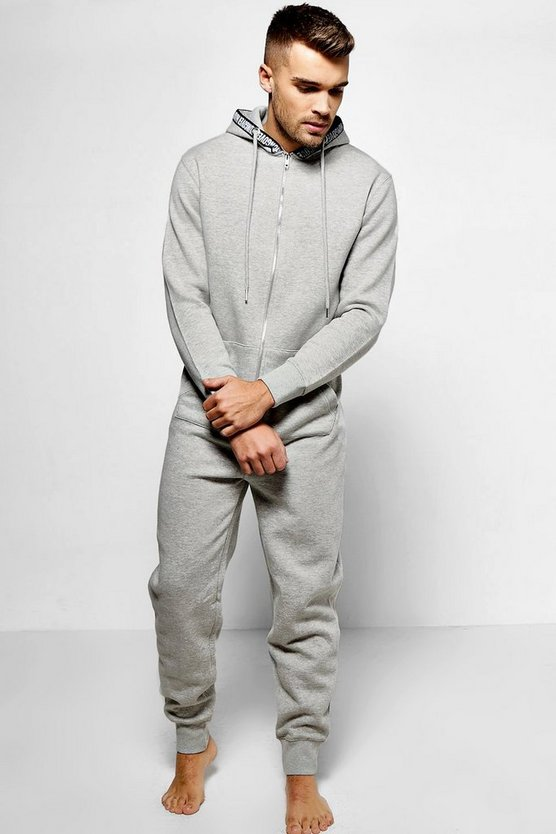 Hungover Print Hooded Onesie