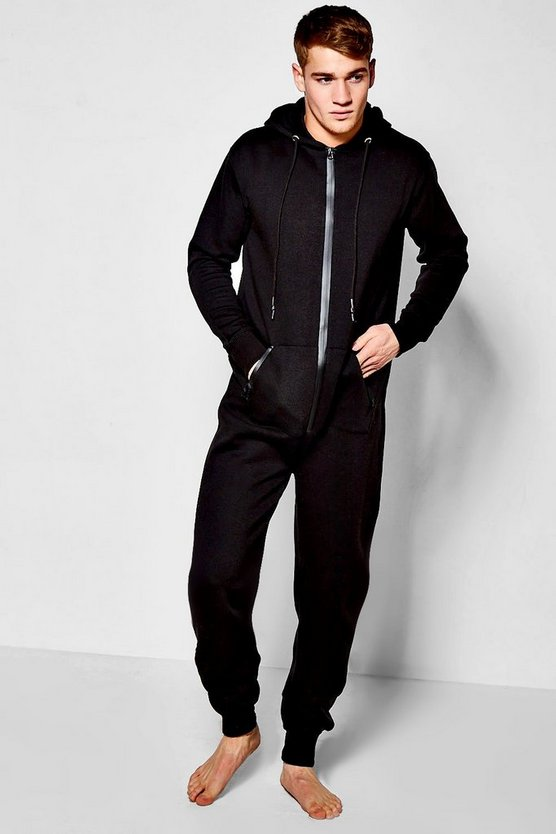 Technical Zip Hooded Onesie