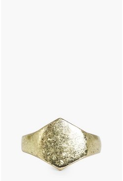 Distressed Hexagon Ring