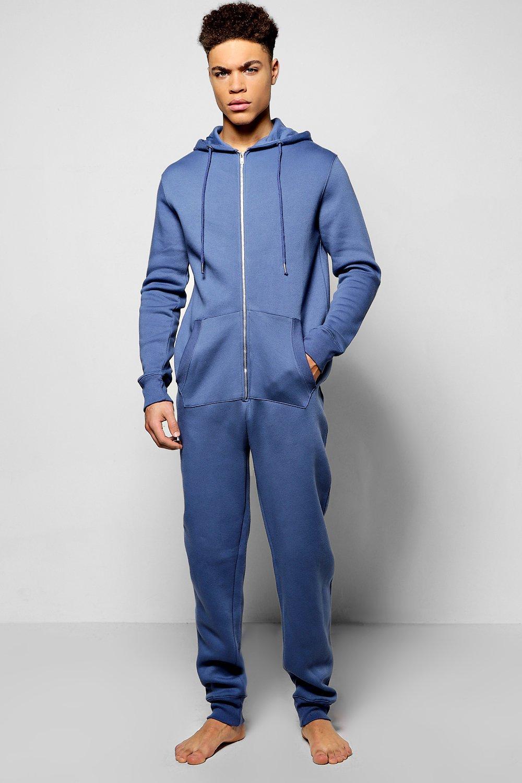 New boohoo mens plain hooded onesie in ebay for Mens dress shirt onesie