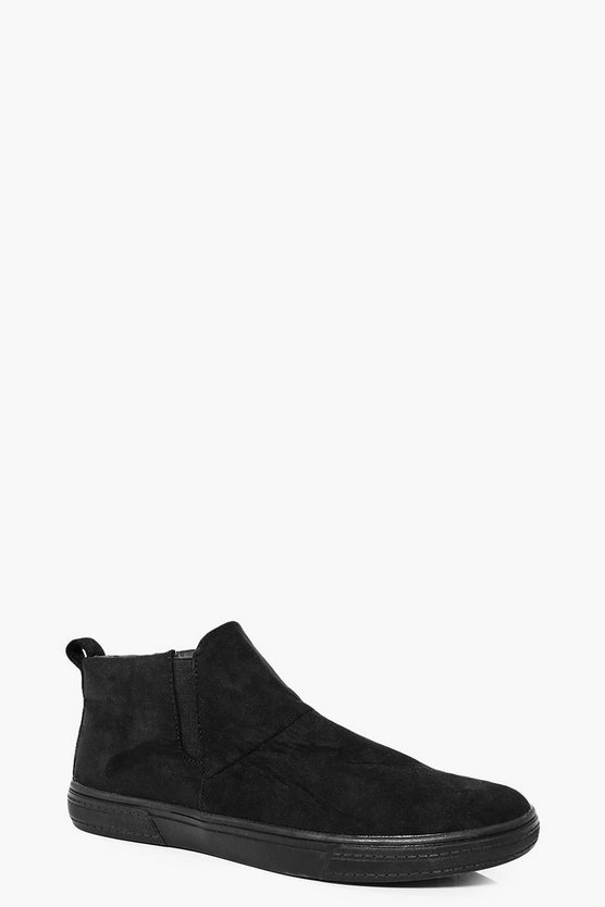 Black Suedette Chelsea Boot