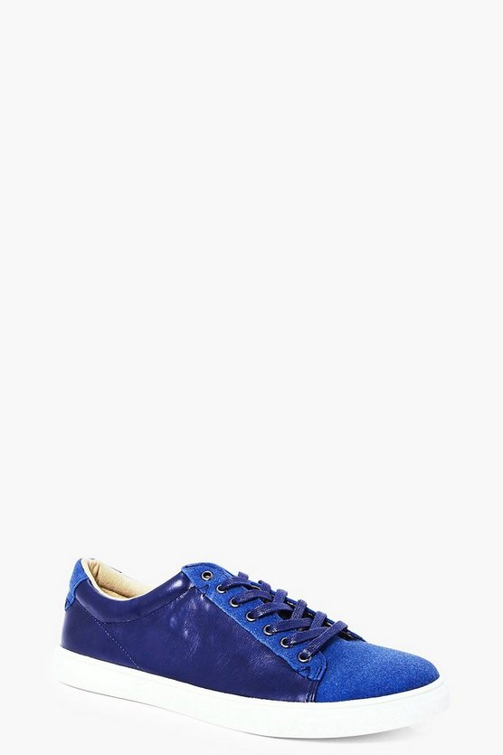Denim Blue Lace Up Trainer