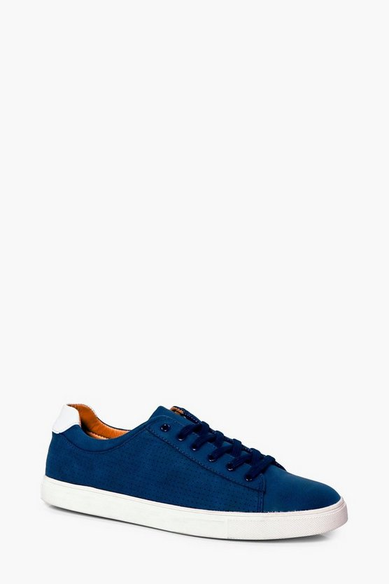 Blue Lace Up Trainers