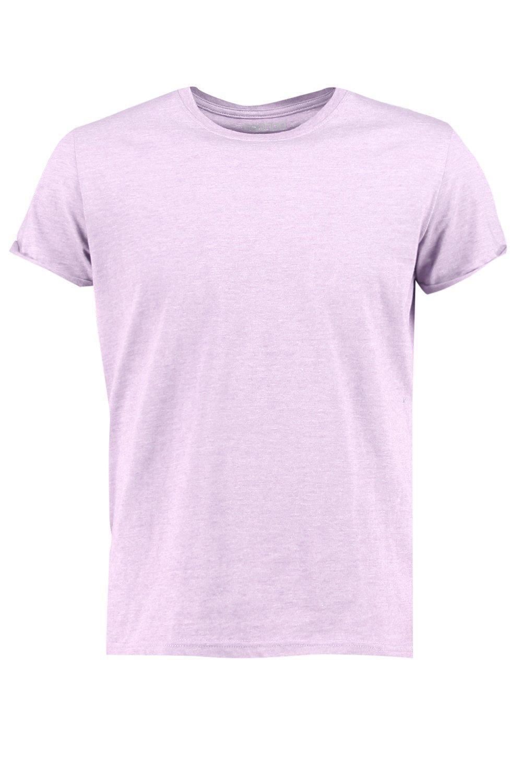 Boohoo-Camiseta-Con-Cuello-Redondo-Y-Mangas-Vueltas-para-Hombre