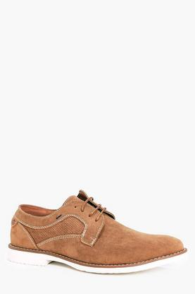 Suedette Derbie Shoes