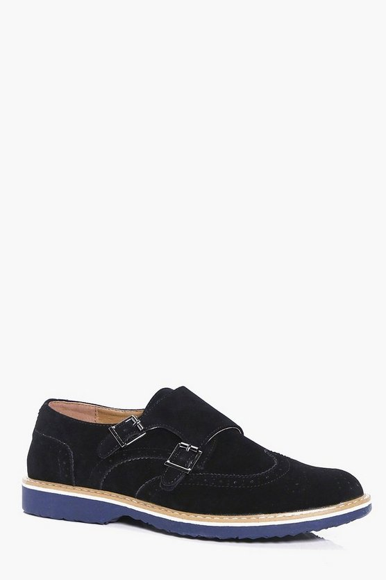 Smart Suedette Monk Shoes