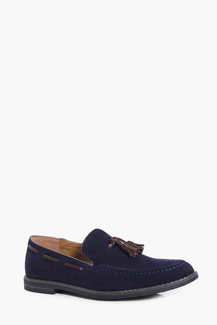 Smart Suedette Tassle Loafers