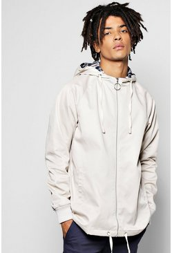 Hooded Cotton Harrington Jacket