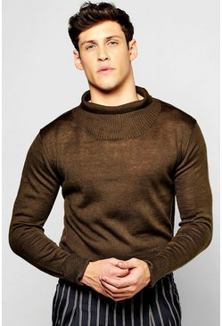 Longline Turtle Neck Jumper