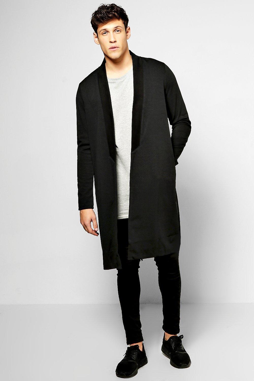 Longline 3/4 Sleeve Jersey Cardigan | Boohoo
