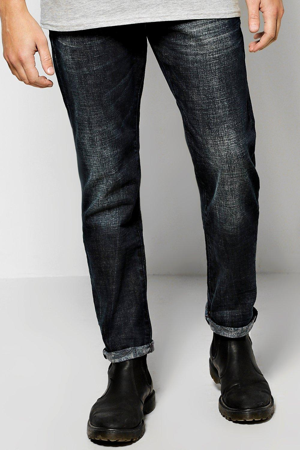 Slim Fit Jeans With Sand Blasting