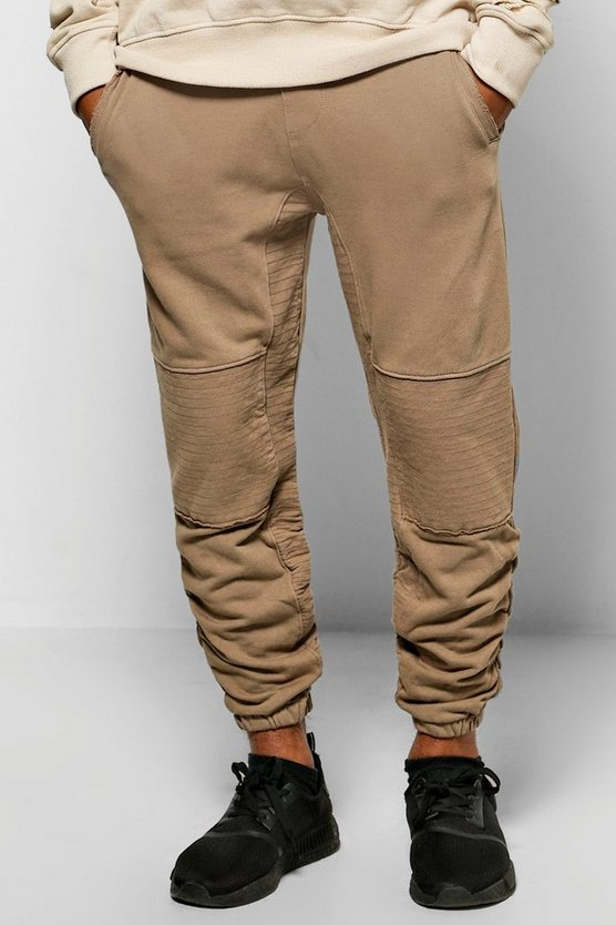 Skinny Fit Ruched Panel Joggers