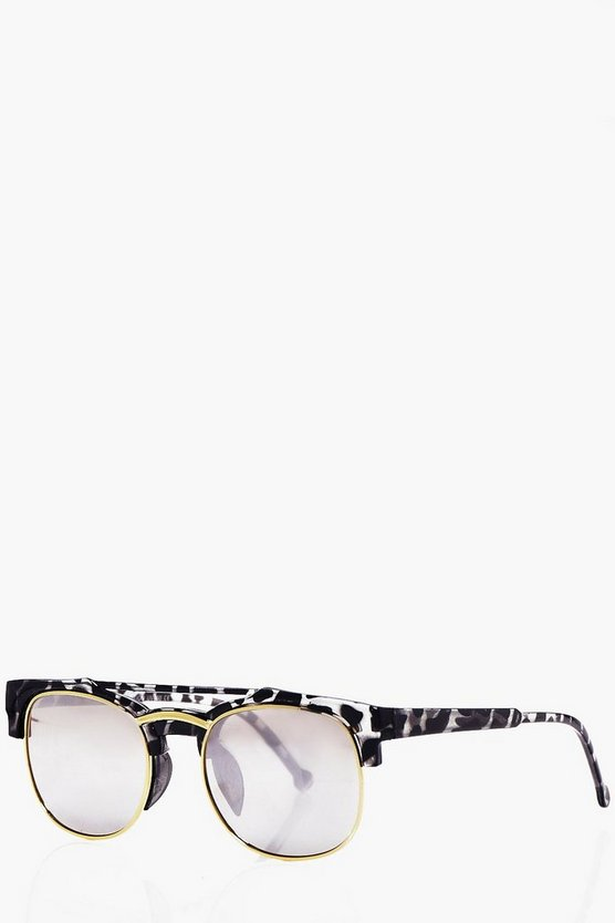 Gold Tortoise Shell Club Master Sunglasses