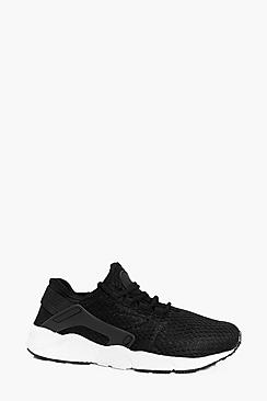 Mesh Lace Up Running Trainer