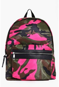 Coloured Camo Backpack