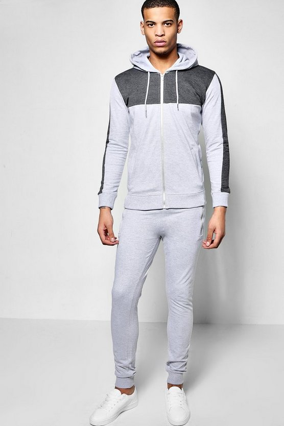 Panelled Hooded Tracksuit