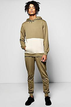 Cut & Sew Hooded Tracksuit