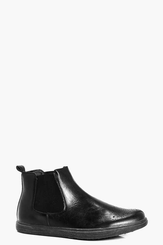 Toe Detail Chelsea Boot