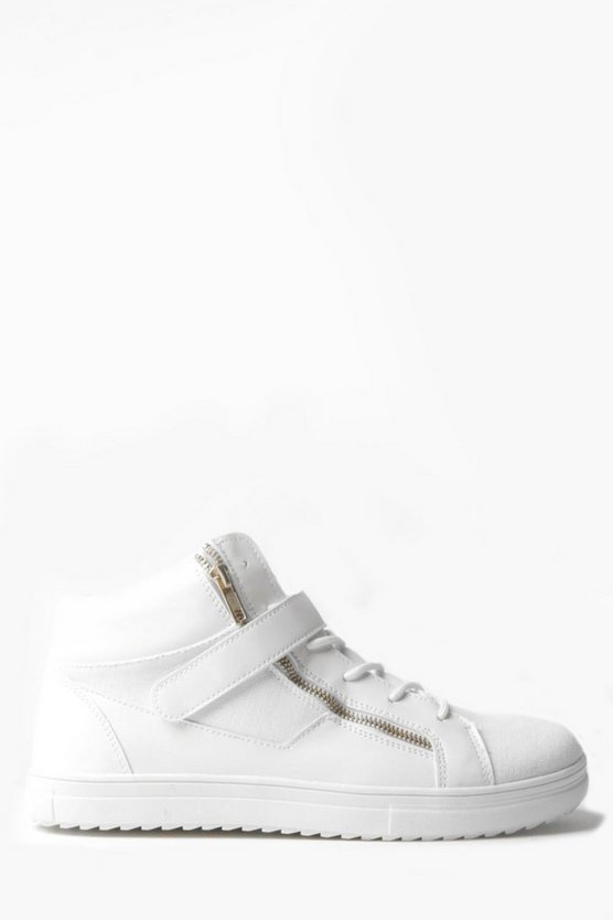 Zip Detail Strap High Top