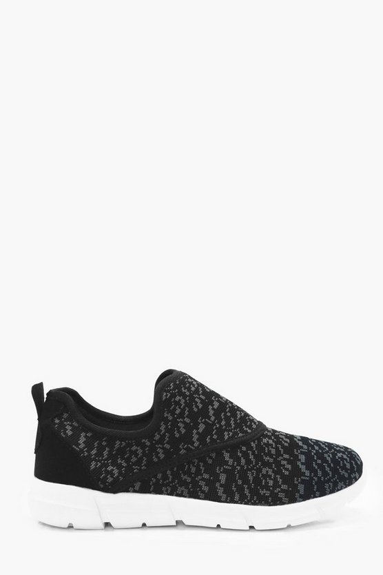 Knitted Slip On Runner Trainer