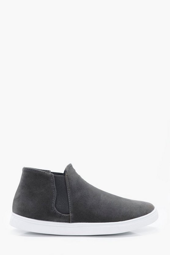 Elastic High Top Slip On
