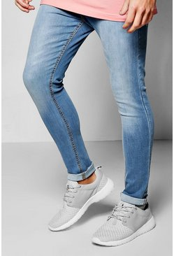 Spray On Skinny Pale Blue Jeans